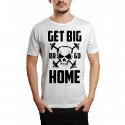 Camiseta HShop Get Big Or Go Home Branco
