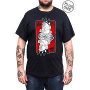 Camiseta Hshop KingKing - Preta - Plus Size - Tamanho Grande XG