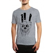 Camiseta HShop Knivez - Cinza Mescla