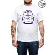 Camiseta Hshop Kombi - Branco - Plus Size - Tamanho Grande XG