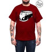 Camiseta Hshop Kombi - Vinho - Plus Size - Tamanho Grande XG
