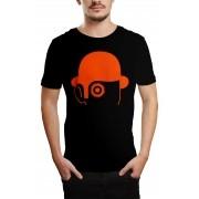 Camiseta HShop Laranja Mecânica Preto