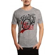 Camiseta HShop Love My Bike - Cinza Mescla