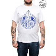 Camiseta Hshop Love Surf - Branco - Plus Size - Tamanho Grande XG