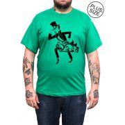 Camiseta Hshop Magic Scape - Verde Bandeira - Plus Size - Tamanho Grande XG