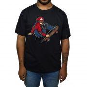 Camiseta Mario Skatista - Preto