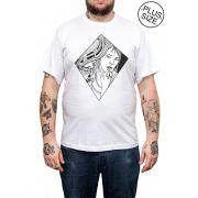 Camiseta Hshop Mirror - Branco - Plus Size - Tamanho Grande XG