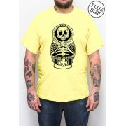 Camiseta Hshop Múmia Matrioska - Amarelo Bebê - Plus Size - Tamanho Grande XG