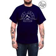 Camiseta Hshop Natureza - Azul Marinho - Plus Size - Tamanho Grande XG