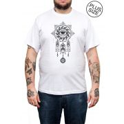 Camiseta Hshop Nice Dreams - Branco - Plus Size - Tamanho Grande XG