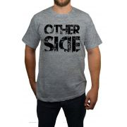 Camiseta Hshop Other Side - Cinza Mescla