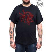 Camiseta Hshop Pantera - Preto - Plus Size - Tamanho Grande XG