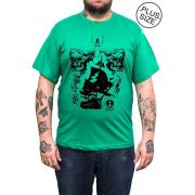 Camiseta Hshop Pirata - Verde Bandeira - Plus Size - Tamanho Grande XG