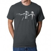 Camiseta HShop Pulp Wars Cinza