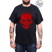 Camiseta Hshop Recovered - Preta - Plus Size - Tamanho Grande XG