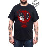Camiseta Hshop Regrette - Preta - Plus Size - Tamanho Grande XG