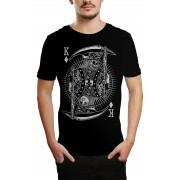 Camiseta HShop Rei Caveira Preto