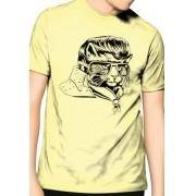 Camiseta HShop Rockstar Cat Amarelo