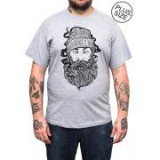 Camiseta Hshop Sailor Man - Cinza Mescla - Plus Size - Tamanho Grande XG