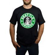 Camiseta HShop Seattle Grunge - Preto