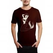 Camiseta HShop Sereia Tradicional Marrom