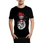 Camiseta HShop Skull Flame Preta