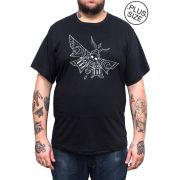 Camiseta Hshop Skull Fly - Preto - Plus Size - Tamanho Grande XG