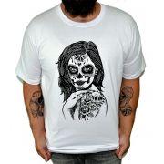 Camiseta HShop Skull Girl Branco