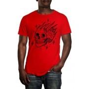 Camiseta HShop Skull Rose - Vermelha