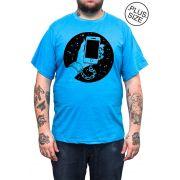 Camiseta Hshop Slave - Azul Turquesa - Plus Size - Tamanho Grande XG