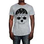 Camiseta HShop Storm Skull Cinza Mescla