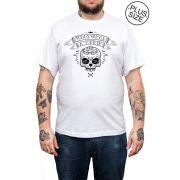 Camiseta Hshop Todos Morir - Branco - Plus Size - Tamanho Grande XG