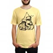 Camiseta HShop Treino de Boxe Amarelo
