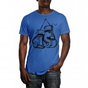 Camiseta HShop Treino de Boxe Azul