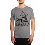 Camiseta HShop Treino de Boxe Cinza