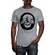 Camiseta HShop Trust Me - Cinza Mescla