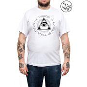 Camiseta Hshop Vision - Branco - Plus Size - Tamanho Grande XG