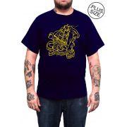 Camiseta Hshop Way From Home - Azul Marinho - Plus Size - Tamanho Grande XG
