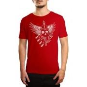 Camiseta HShop Wing Skull - Vermelha