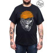 Camiseta Hshop Wolfff - Preto - Plus Size - Tamanho Grande XG