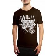 Camiseta HShop Wolves Marrom