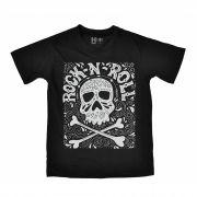 Camiseta Infantil HShop Art Rock Preto