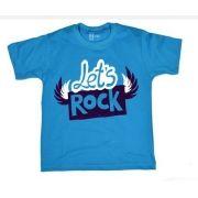 Camiseta Infantil HShop Let's Rock Azul