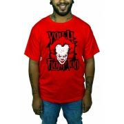 Camiseta It - A Coisa - Pennywise - You'll  Float Too - Vermelha