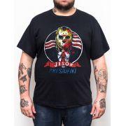 Camiseta Jason for President - Tamanho Grande Xg