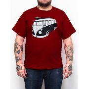 Camiseta Kombi Vinho - Plus Size - Tamanho XG