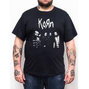 Camiseta Korn - Preto - Plus Size - Tamanho Grande Xg