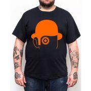 Camiseta Laranja Mecânica Chapéu - Plus Size - Tamanho XG