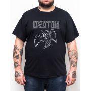 Camiseta Led Zeppelin - Anjo - Plus Size - Tamanho Grande