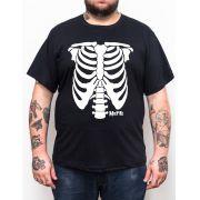 Camiseta Misfits Esqueleto Plus Size - Tamanho Grande